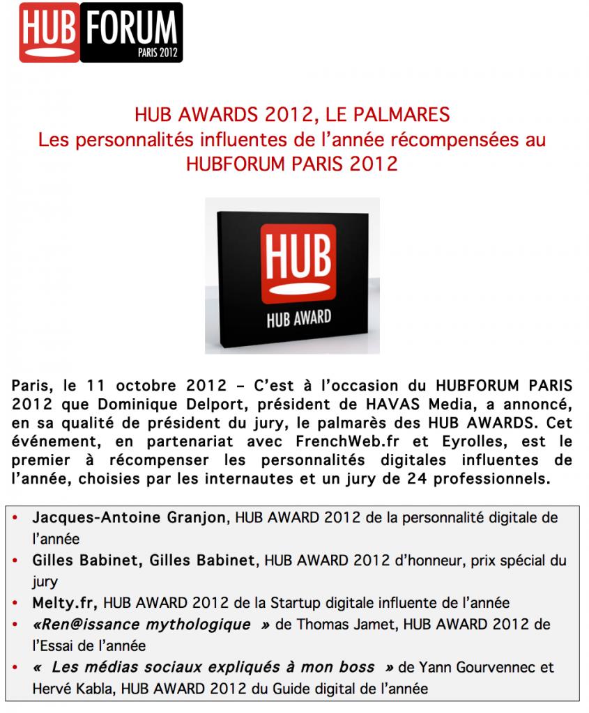 Hub Award 2012
